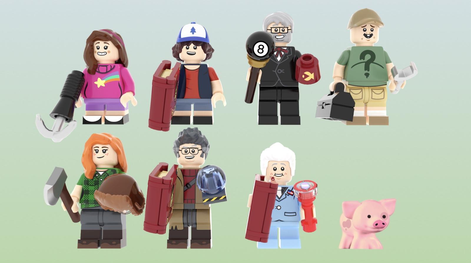 LEGO Ideas Gravity Falls: The Mystery Shack Minifiguren