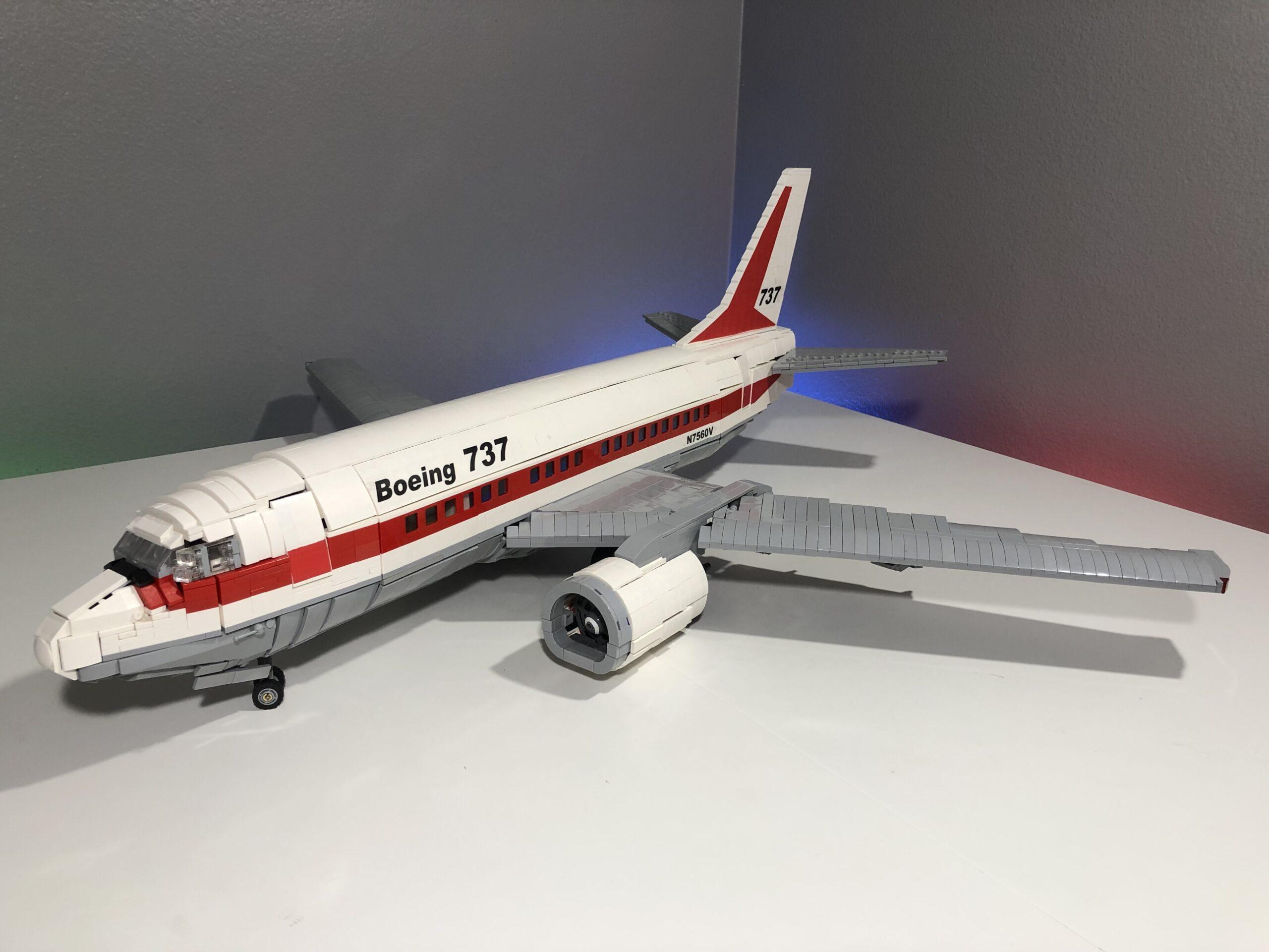 LEGO Ideas Boeing 737 Passenger Plane BigPlanes-Customs aus Bricks
