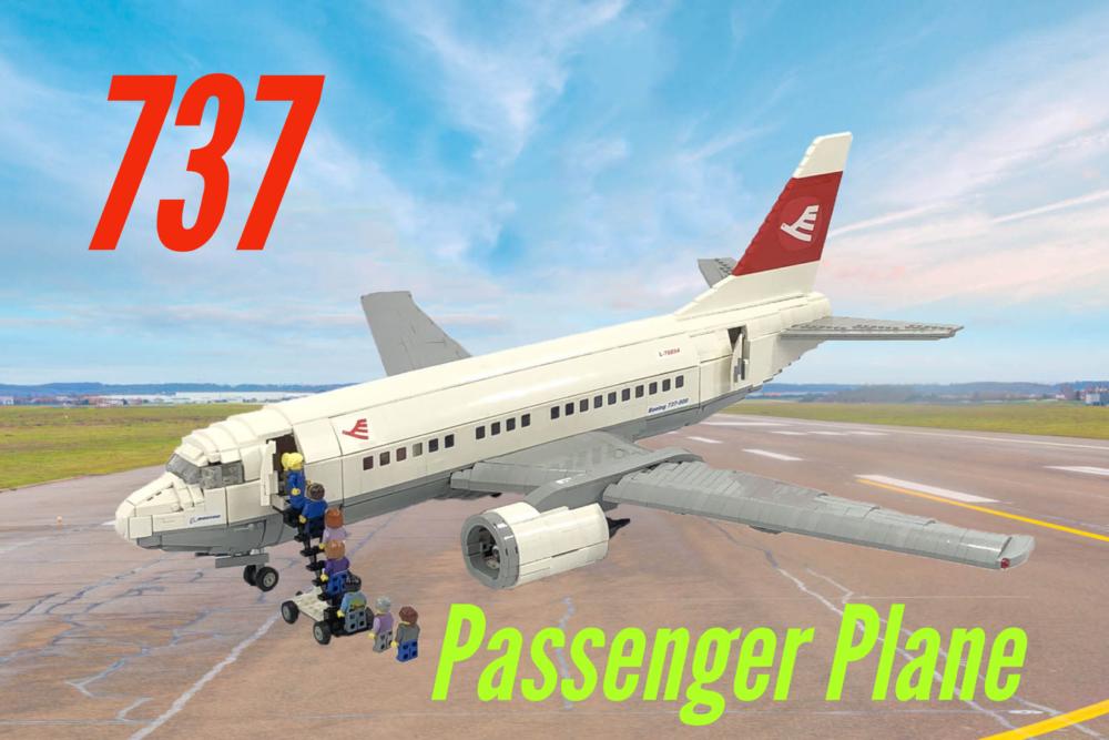 LEGO Ideas Boeing 737 Passenger Plane BigPlanes-Customs