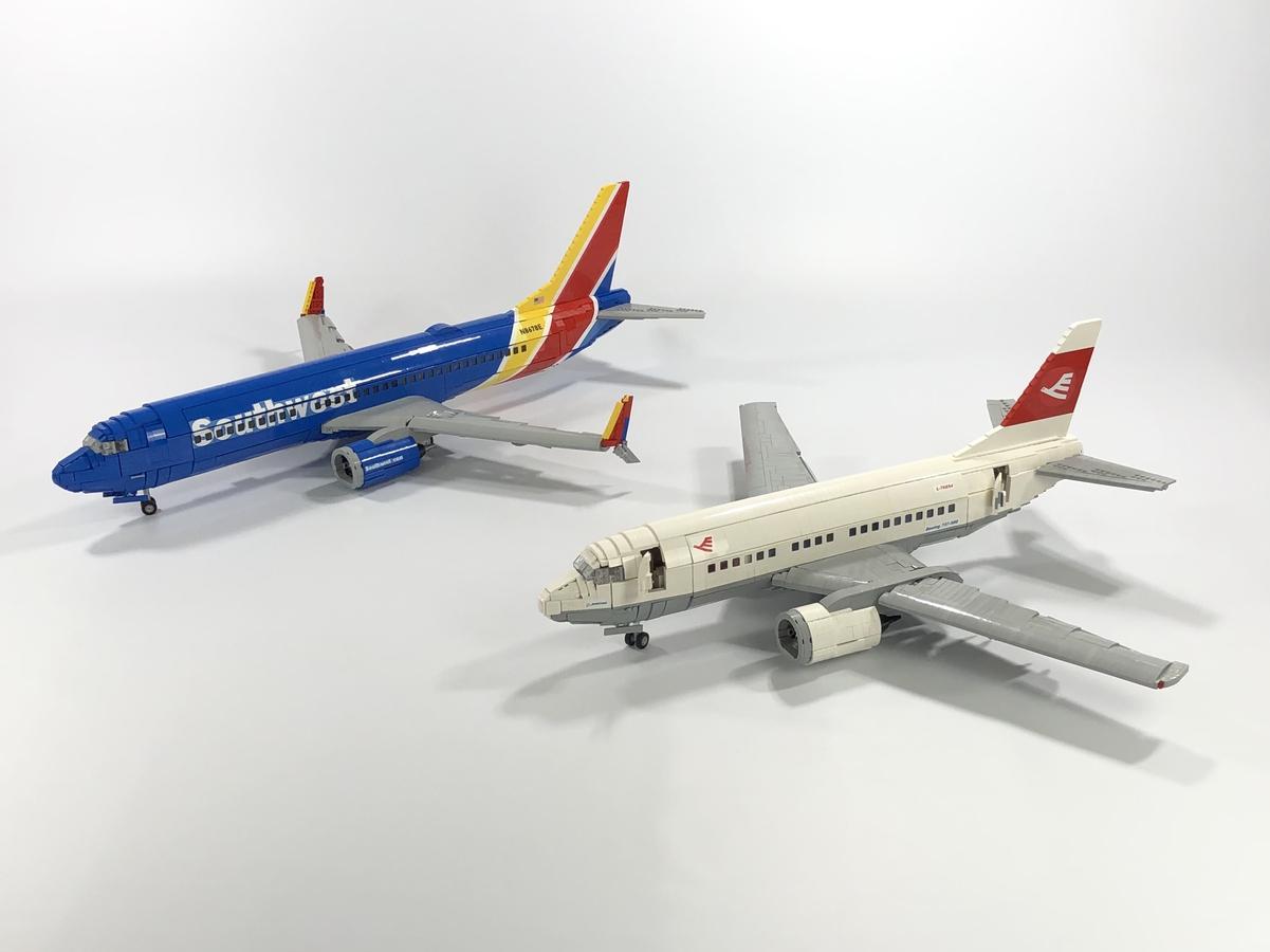 LEGO Ideas Boeing 737 Passenger Plane BigPlanes-Customs Kabine