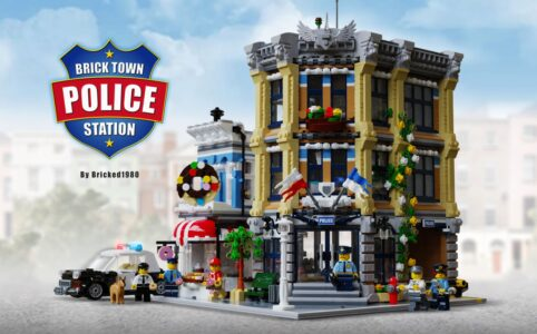 LEGO Ideas Brick Town Police Station Bricked1980