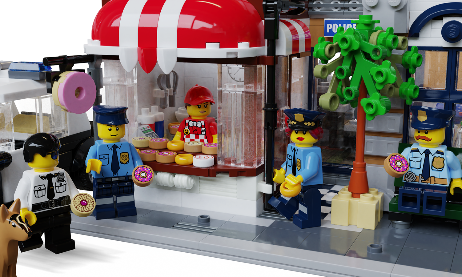 LEGO Ideas Brick Town Police Station Donut