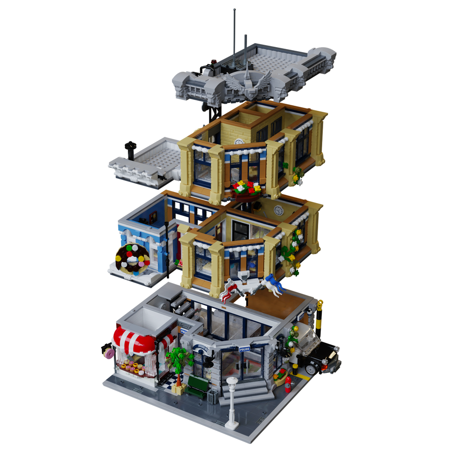 LEGO Ideas Brick Town Police Station Etagen