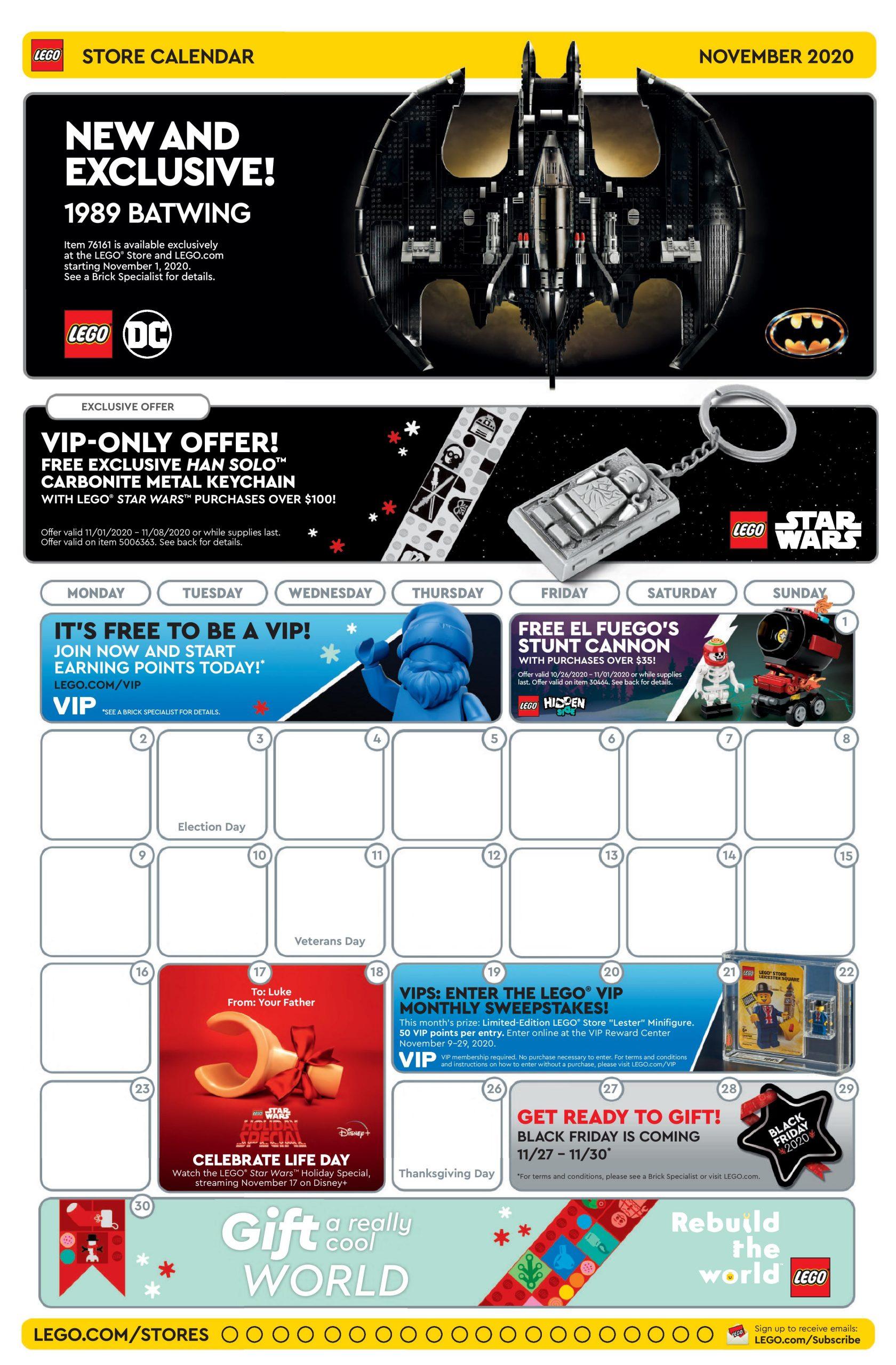 LEGO Store Kalender US