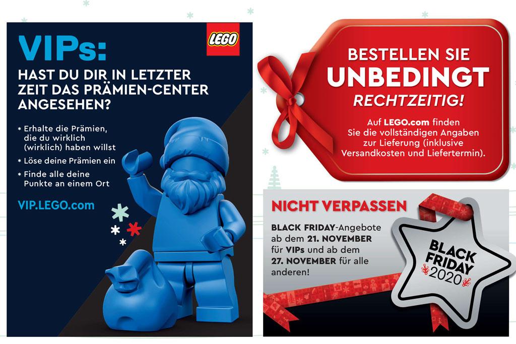LEGO Weihnachten 2020 Katalog: Hinweis auf den Black Friday