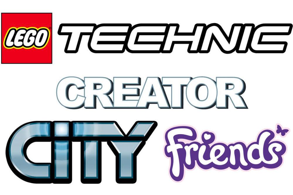 LEGO Technic, Creator, City und Friends Logo