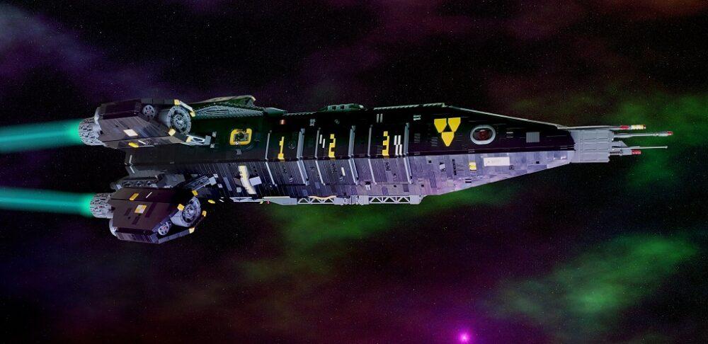 Neo-Blacktron Rocket Ship by Nathan Proudlove
