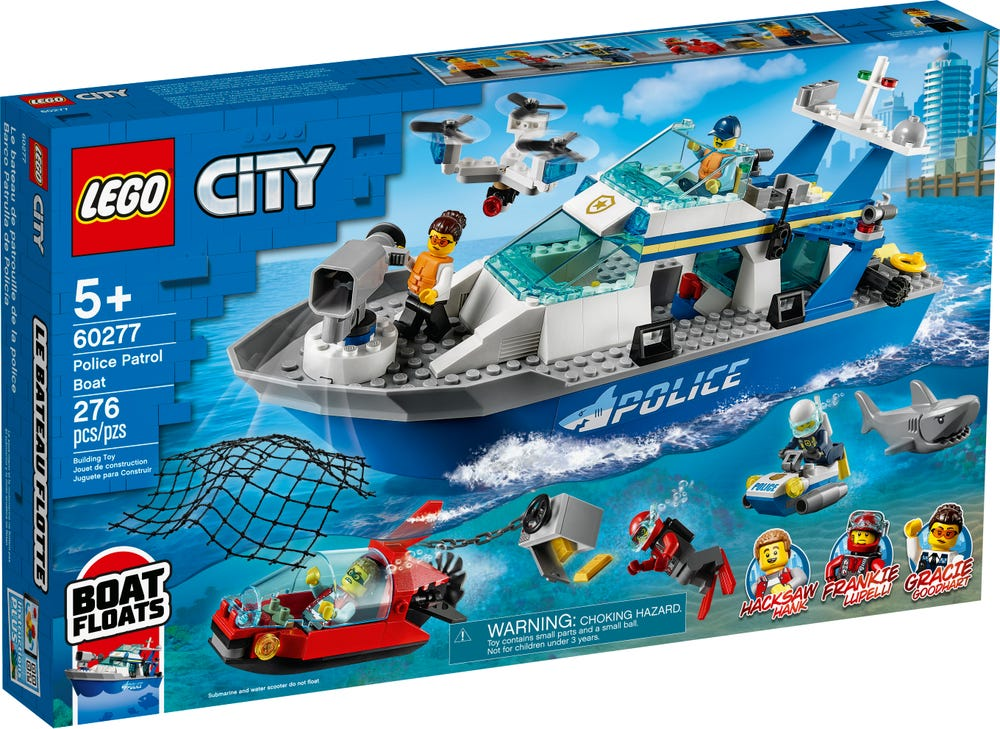 LEGO Polizeiboot verfolgt rotes U-Boot