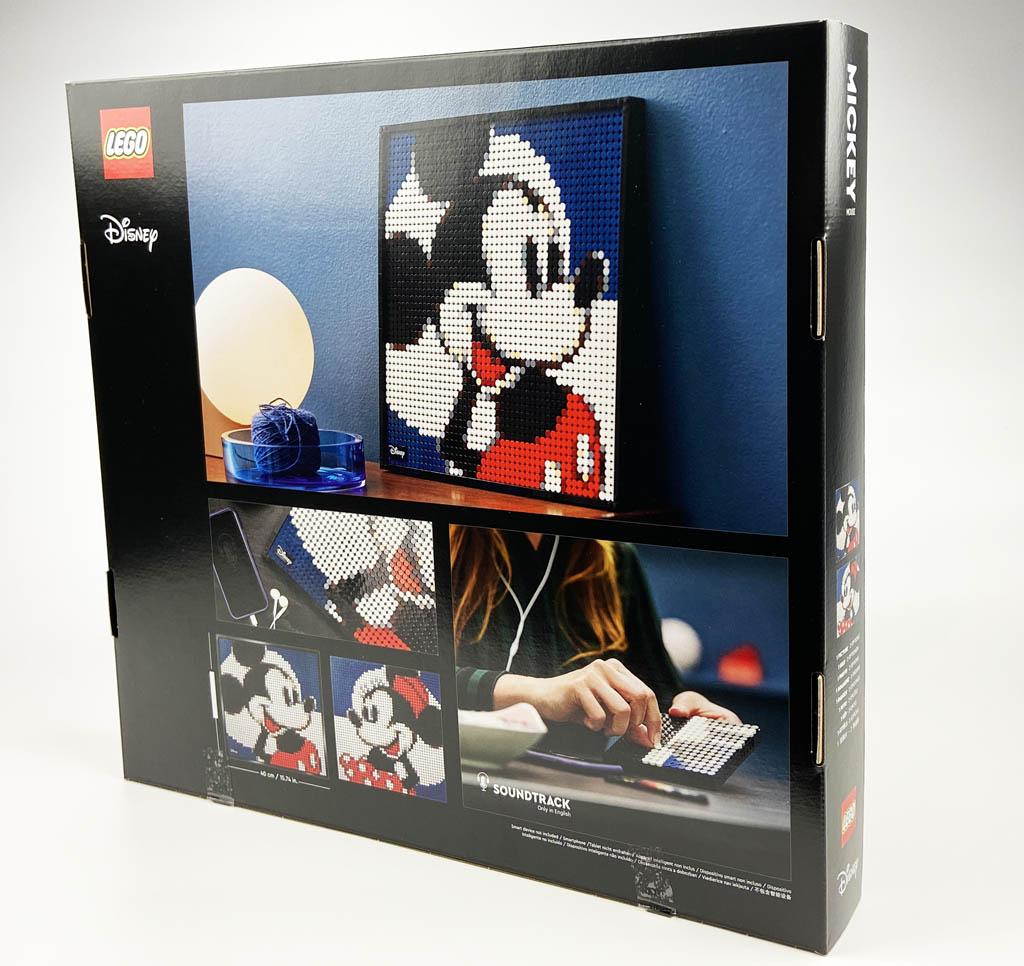LEGO Art 31202 Mickey Mouse Box Rückansicht