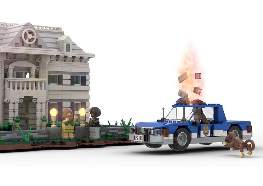 Jumanji of 1995 Angriff auf der Polizeiauto © 2020 LEGO Ideas / NIKANA