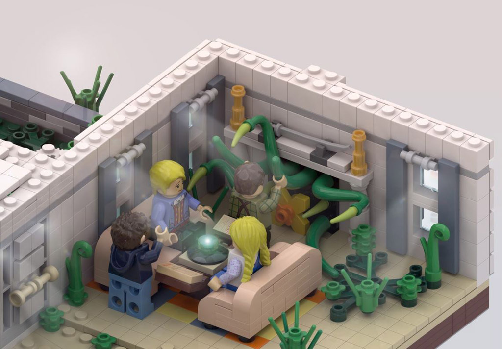 Jumanji of 1995 fleischfressenden Pflanze im Wohnzimmer © 2020 LEGO Ideas / NIKANA