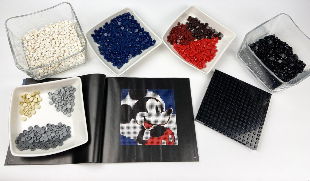 LEGO Art 31202 Mickey Mouse Box Parts