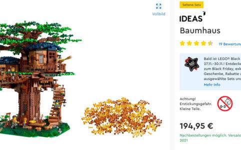 LEGO Ideas 21318 Baumhaus: Nachbestellungen möglich. Versand zum 5. Februar 2021