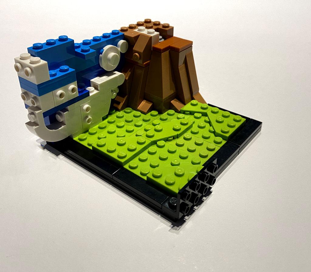 LEGO DC 77906 Wonder Woman Aufbau und Wolken