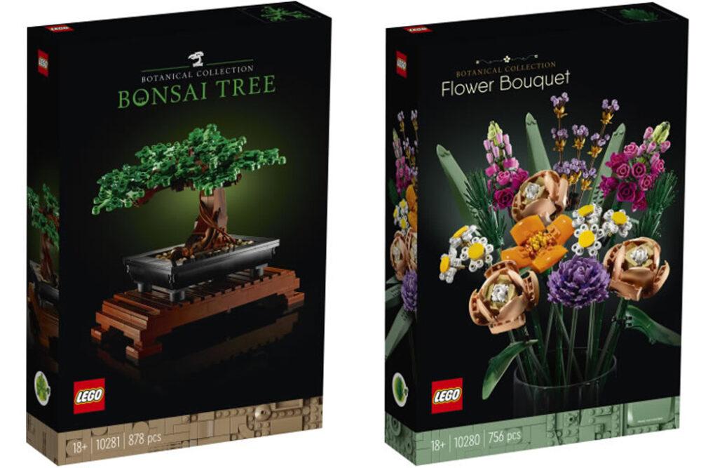 LEGO 10281 Bonsai-Baum und 10280 Blumenstrauß