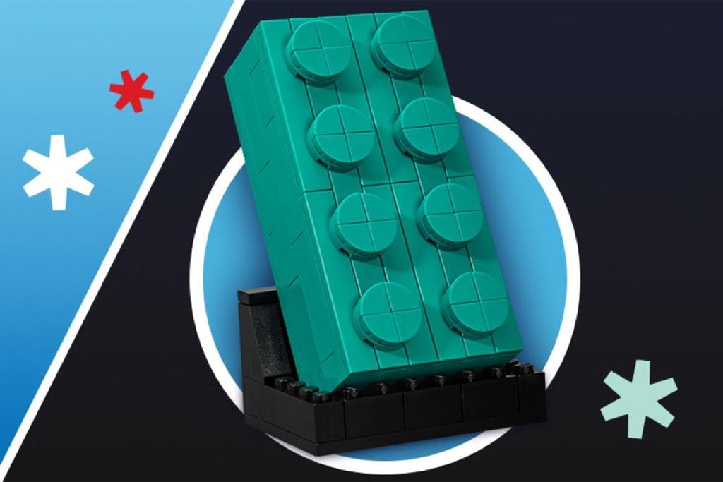 LEGO 2x4-Baustein in Türkis