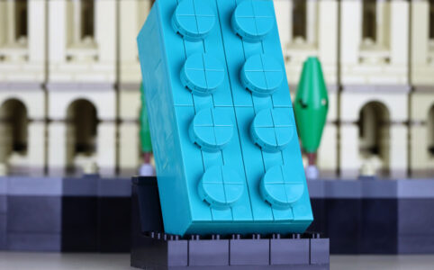 LEGO Gratis-Beigabe 2×4-Baustein in Türkis