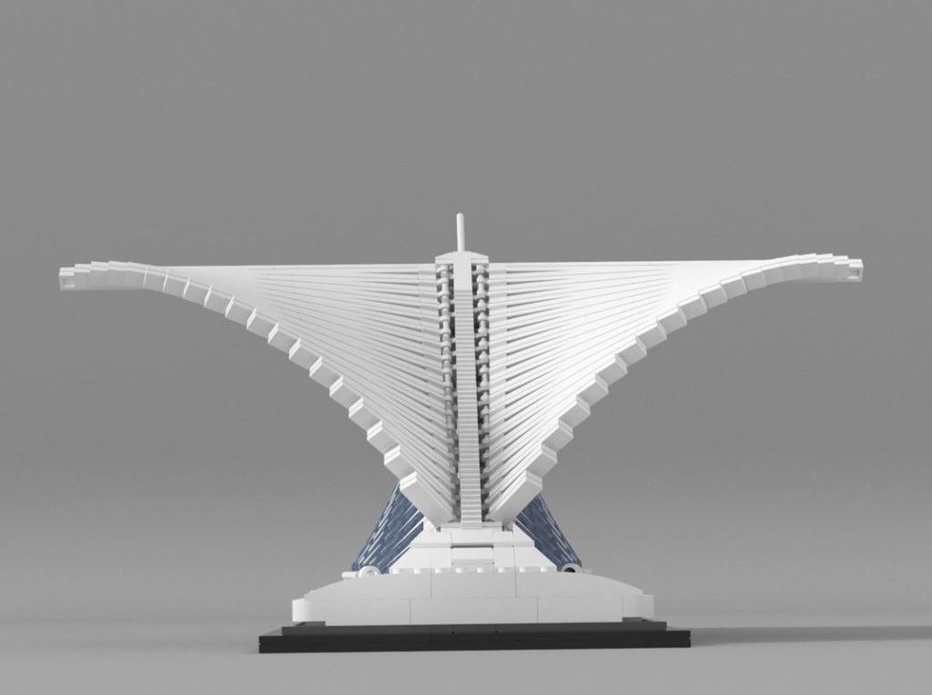 LEGO Ideas Milwaukee Art Museum Entwurf von vidaandras Rückansicht
