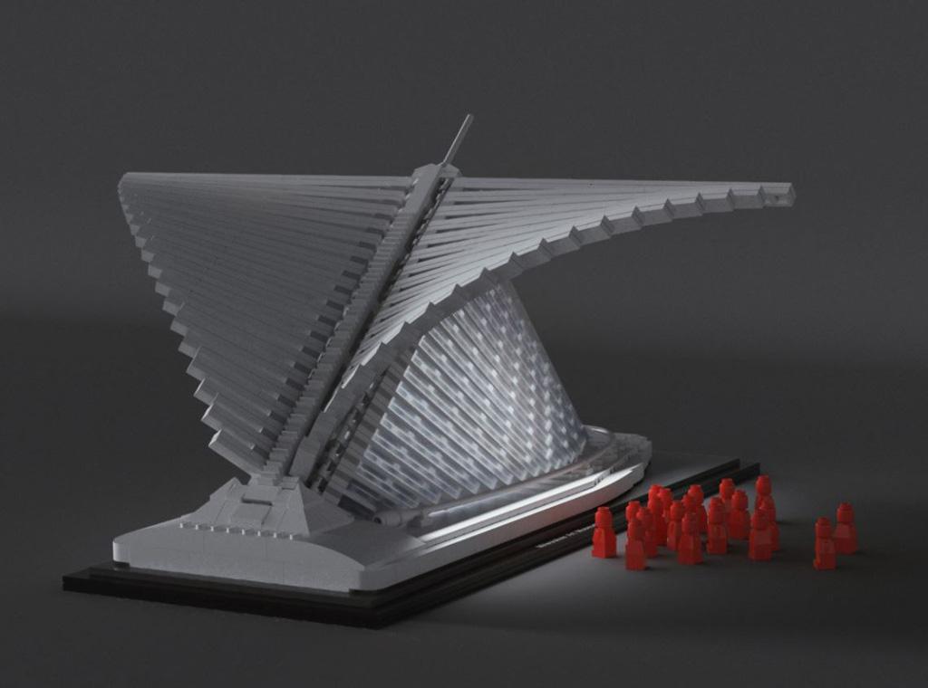 LEGO Ideas Milwaukee Art Museum Entwurf von vidaandras Licht