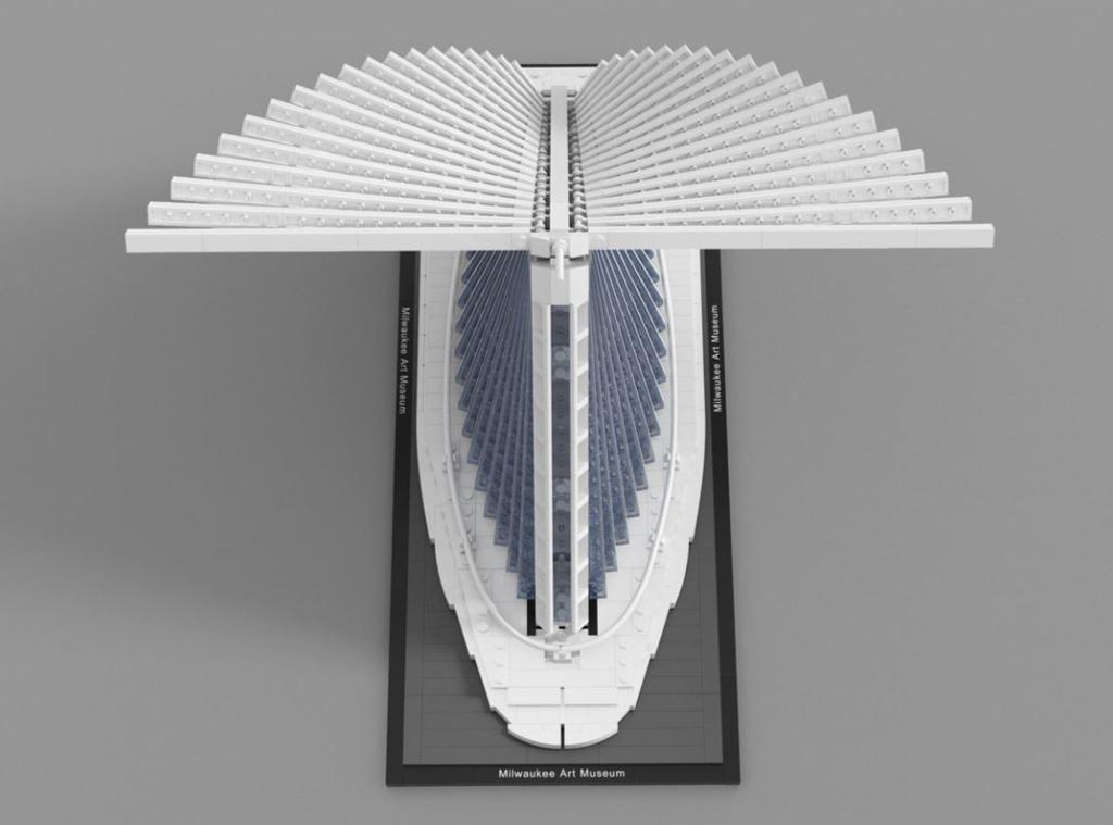 LEGO Ideas Milwaukee Art Museum Entwurf von vidaandras Draufsicht