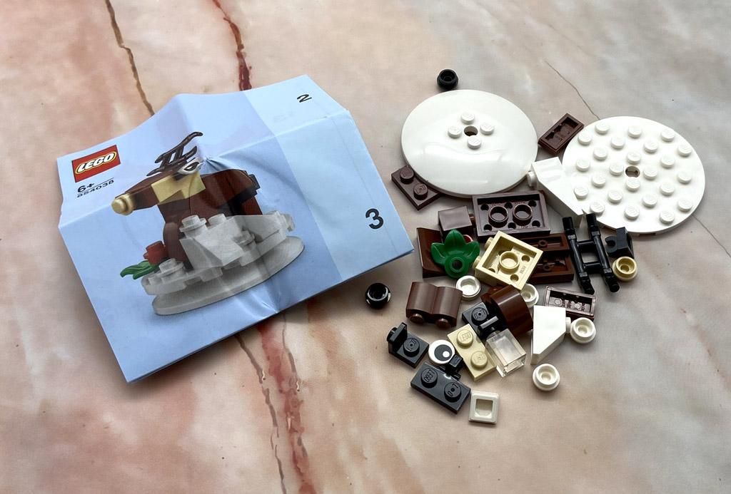 LEGO Seasonal 854038 Christbaumkugel mit Rentier enthaltene Steine