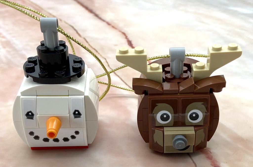 LEGO Seasonal 854050 Schneemann und Rentier Weihnachtskugeln