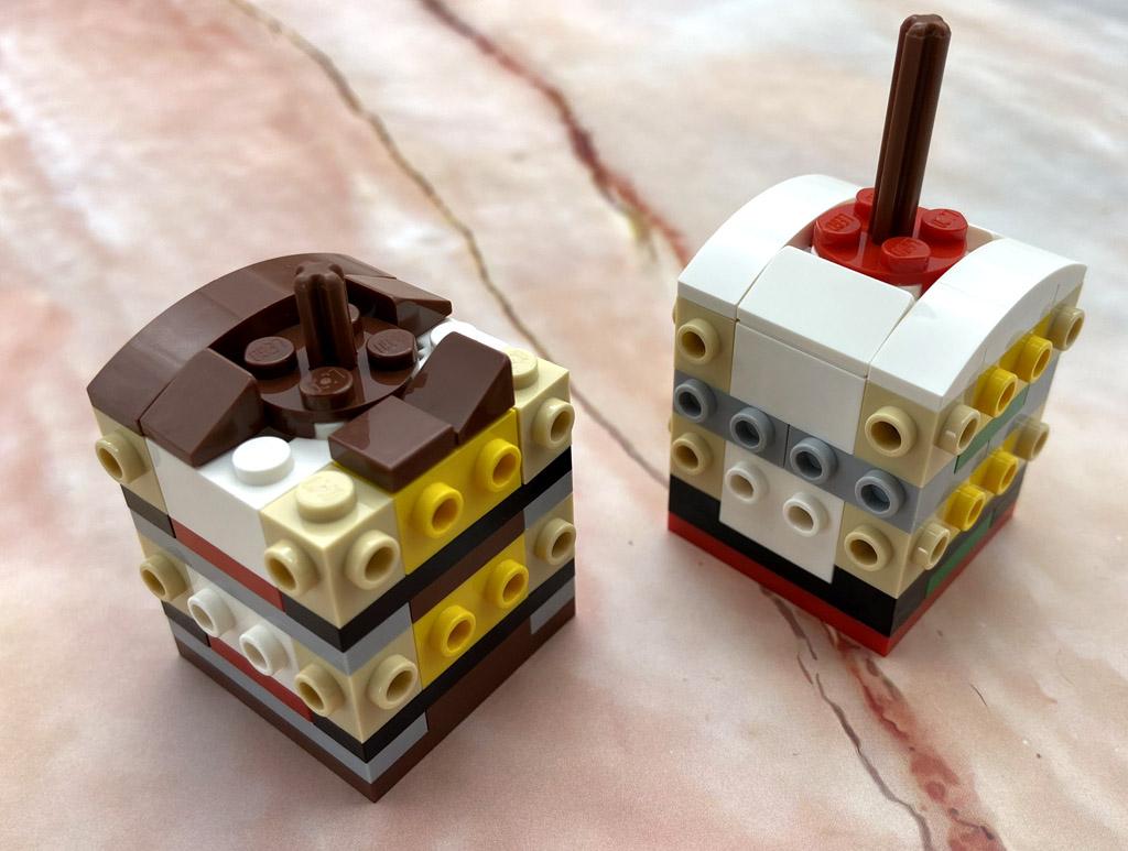 LEGO Seasonal 854050 Schneemann und Rentier Aufbau