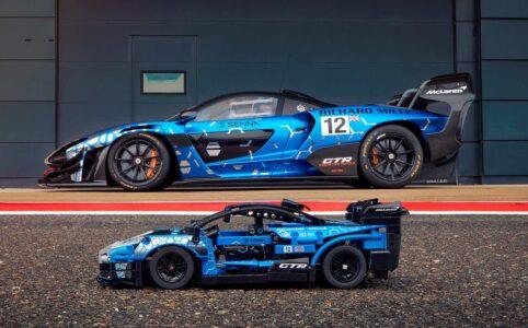 LEGO Technic 42123 McLaren Senna GTR und das Original