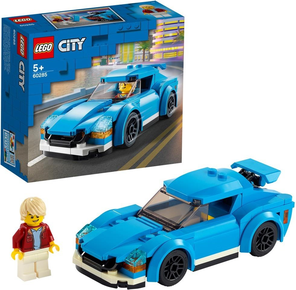 LEGO City blauer Sportwagen und Minifigur