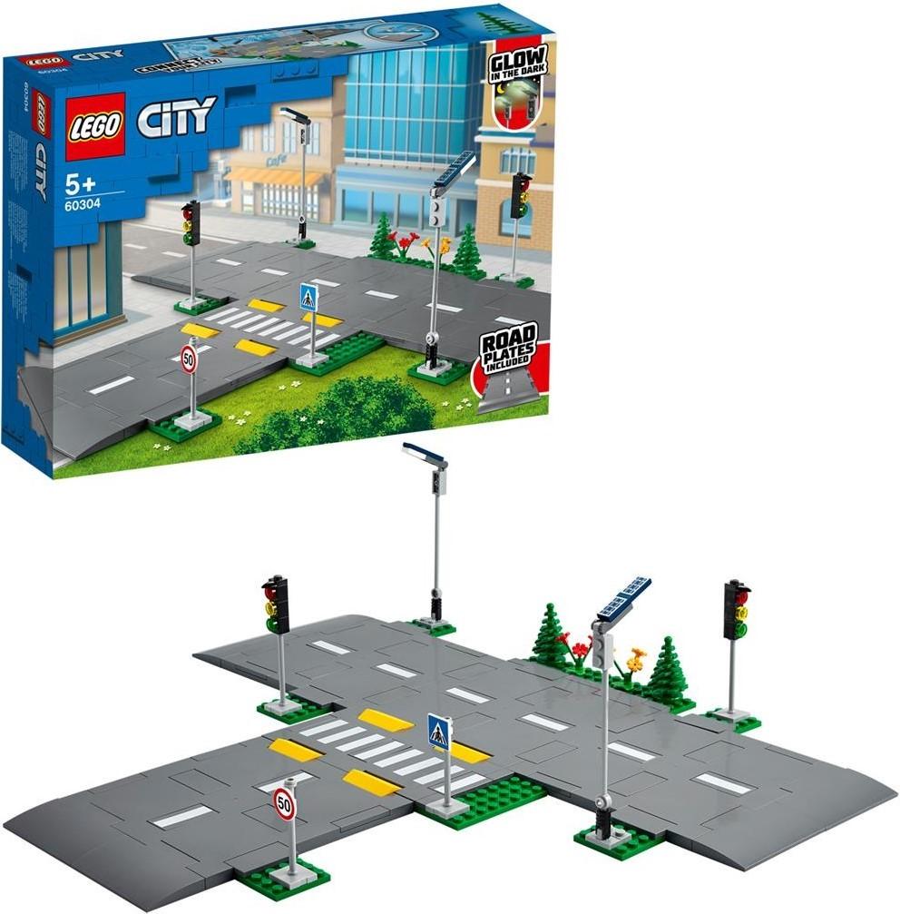 LEGO City Straßenkreuzung mit Ampeln und Schildern