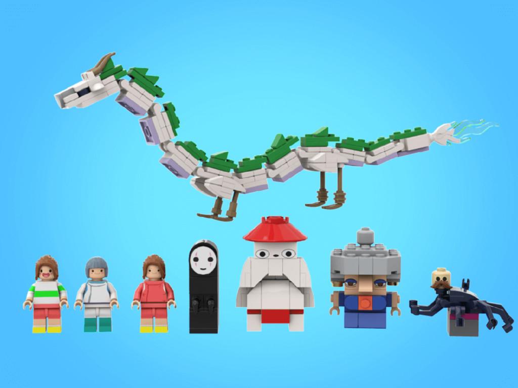 LEGO Ideas Figuren aus Chihiros Reise ins Zauberland