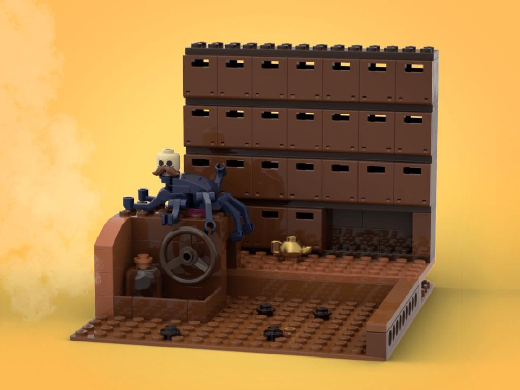 LEGO Ideas Chihiros Reise ins Zauberland Keller des Badehauses