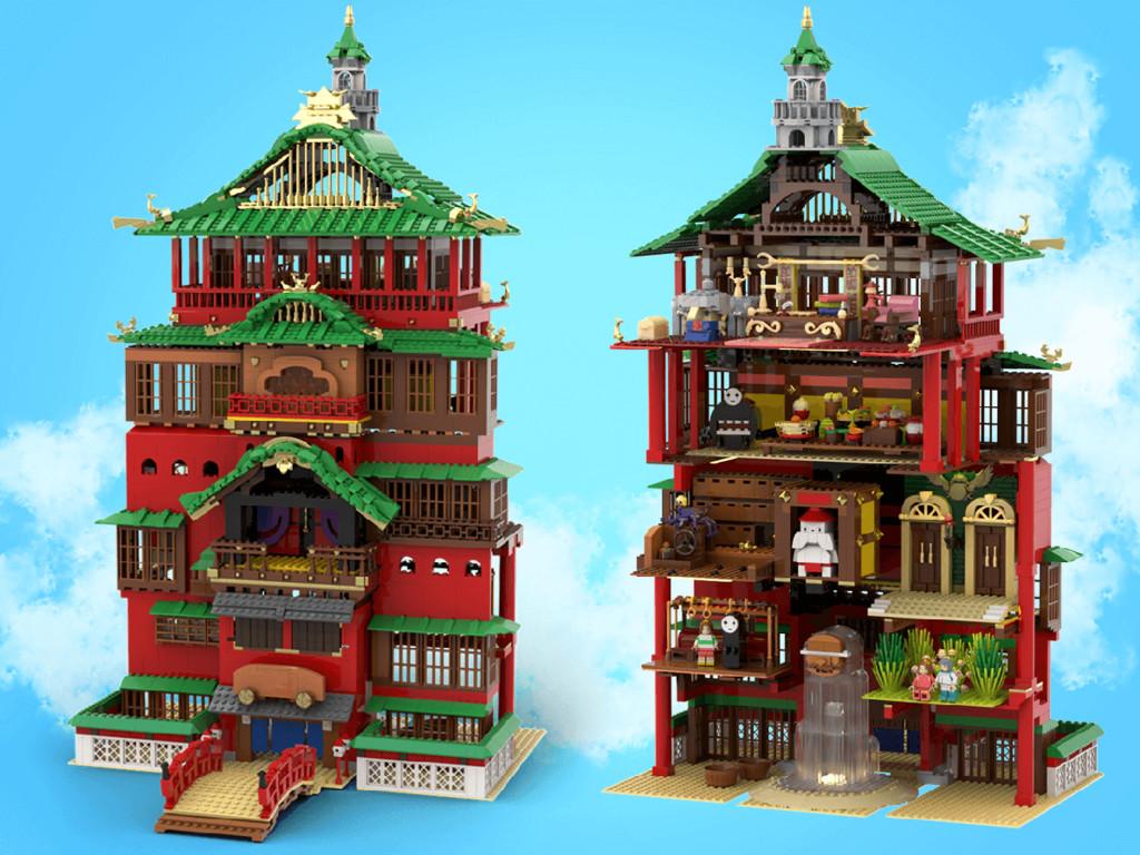 LEGO Ideas Badehaus aus Chihiros Reise ins Zauberland