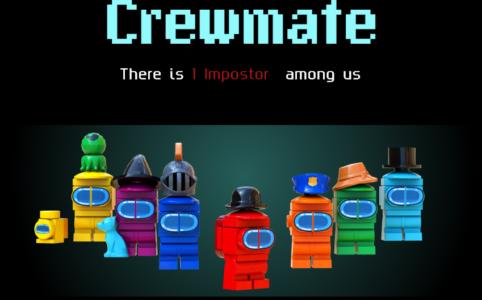 Nachempfunder Titelbildschirm vom Videospiel Among Us