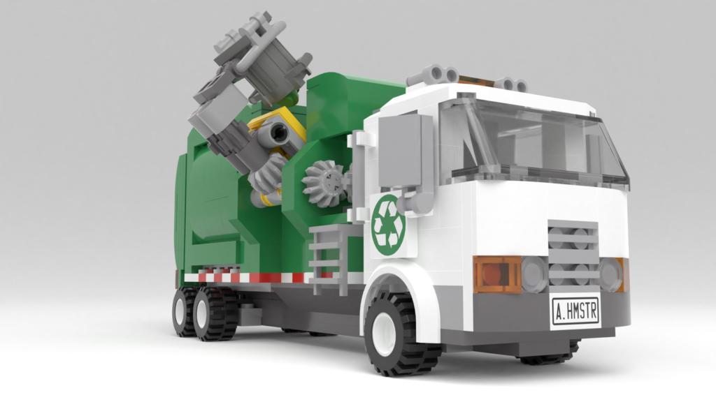 LEGO Ideas Müllabfuhr wird beladen