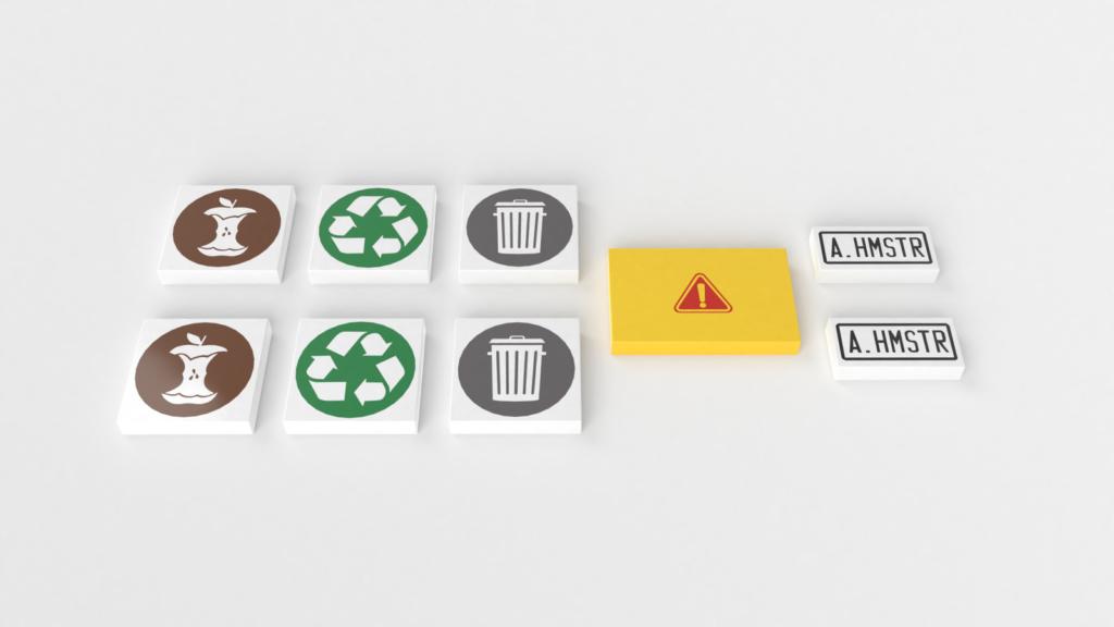 Bedruckte Teile für die LEGO Ideas Müllabfuhr