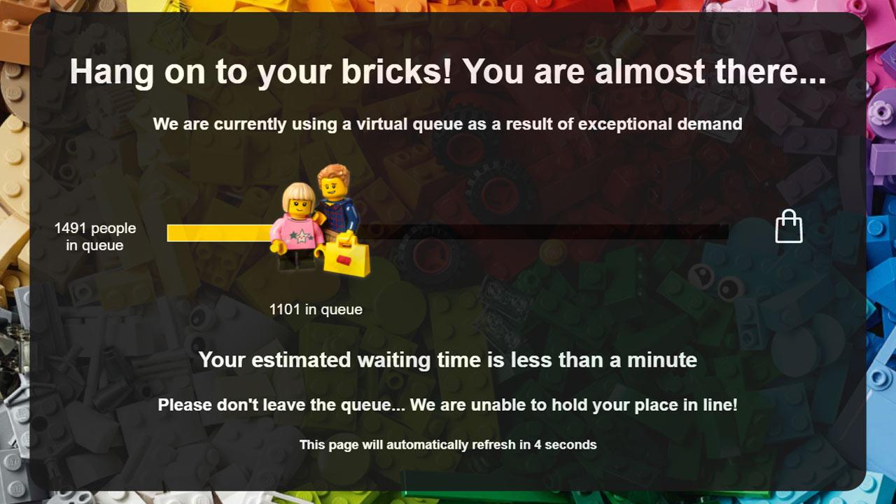 LEGO Online Shop Wartezeit