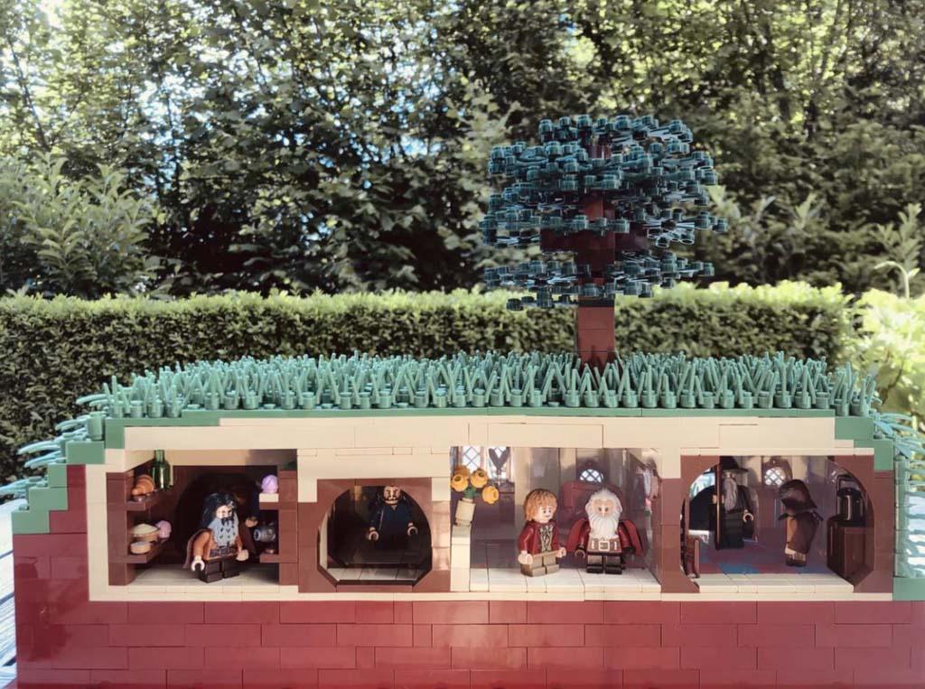 LEGO Ideas Entwurf The Shire The Hobbit Beutelsend TB Brickcreator Querschnitt
