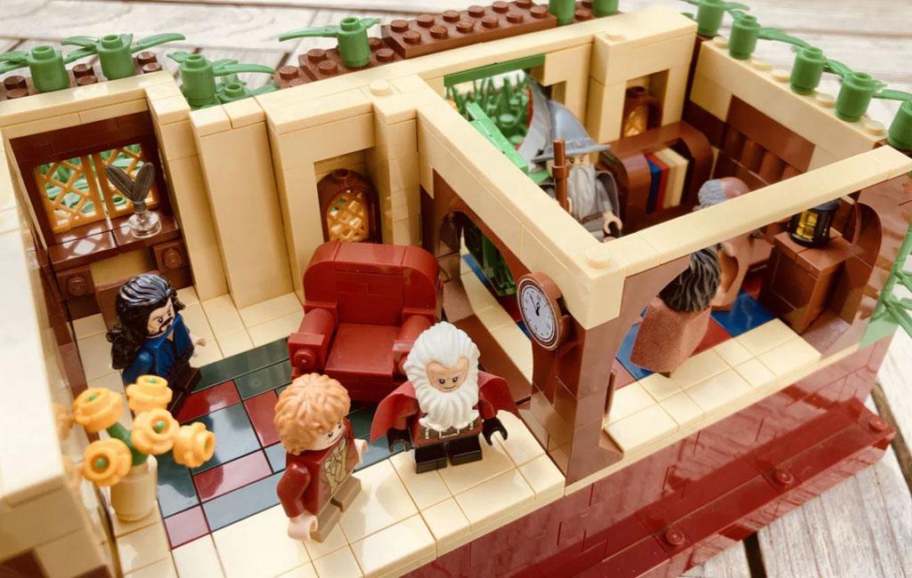 LEGO Ideas Entwurf The Shire The Hobbit Beutelsend TB Brickcreator Wohnzimmer