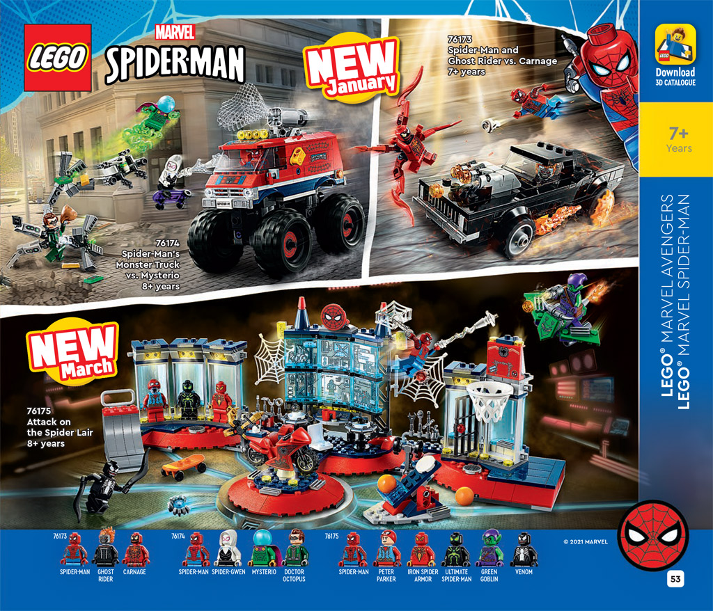 LEGO Marvel 76175 Spiderman Attack on the Spider Lair