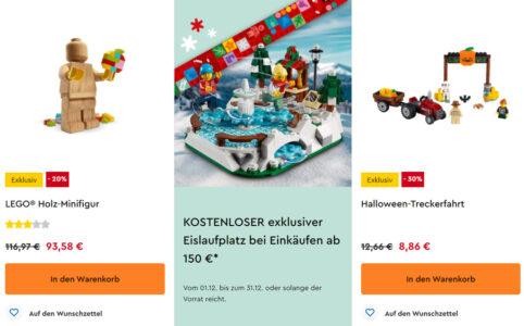 Schlussverkauf im LEGO Online Shop: 20 und 30 Prozent Rabatt auf diverse LEGO Sets und Gratis-Beigabe