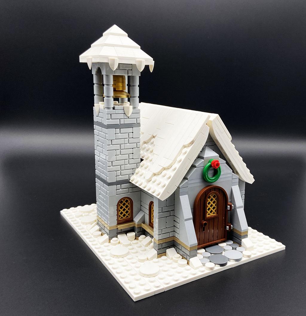 LEGO MOC Stein auf Stein Berg Kapelle Mountain Chapel