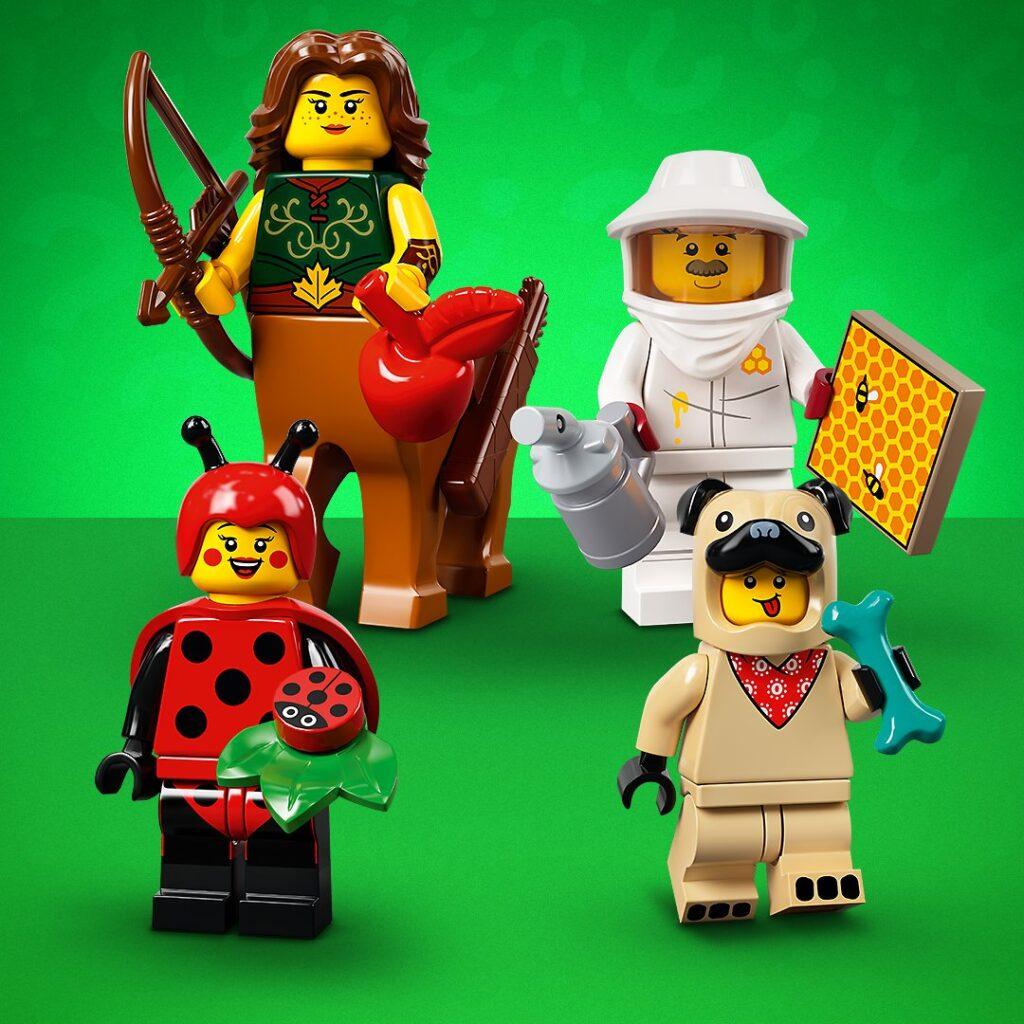 Vier verschiedene LEGO Minifiguren aus 71029 Serie 21