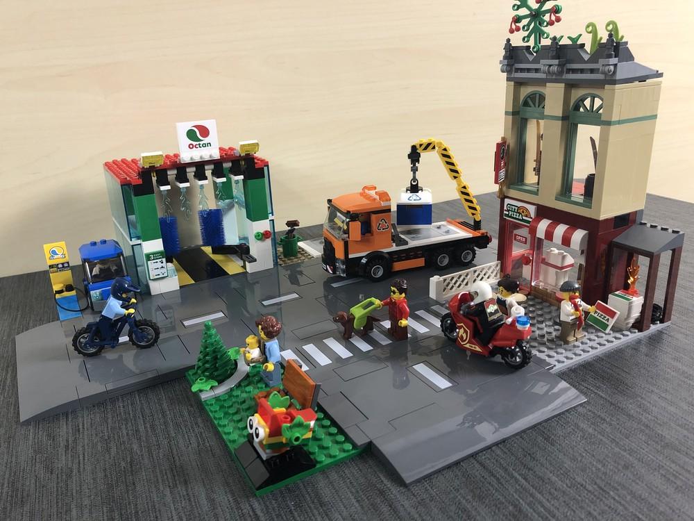 LEGO City 60292 Stadtzentrum vollständig zusammengebaut