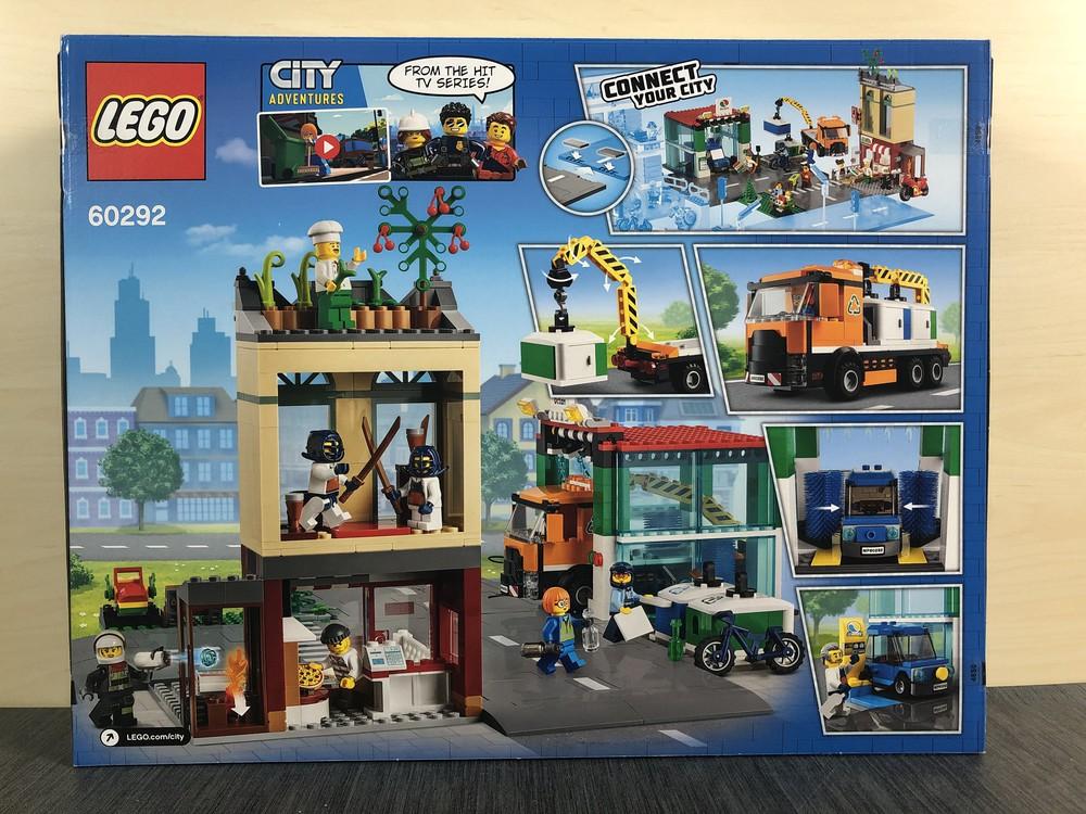 Rückseite Verpackung LEGO City 60292 Stadtzentrum