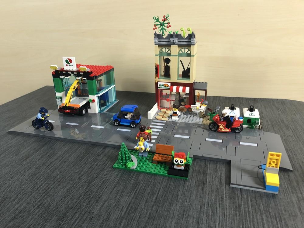 Variation mit langer Straße beim LEGO City Set 60292 Stadtzentrum