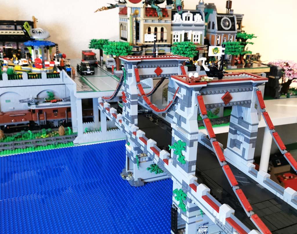BenBricks Eine Modifikation der LEGO Marvel Super Heroes 76057 Spider-Man: Web Warriors Ultimate Bridge Battle
