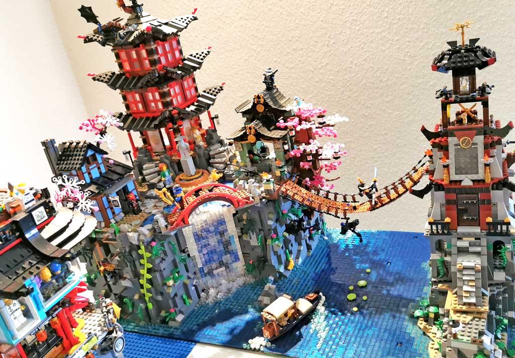 BenBricks LEGO Stadt Ninjago District 70751 Tempel von Airjitzu