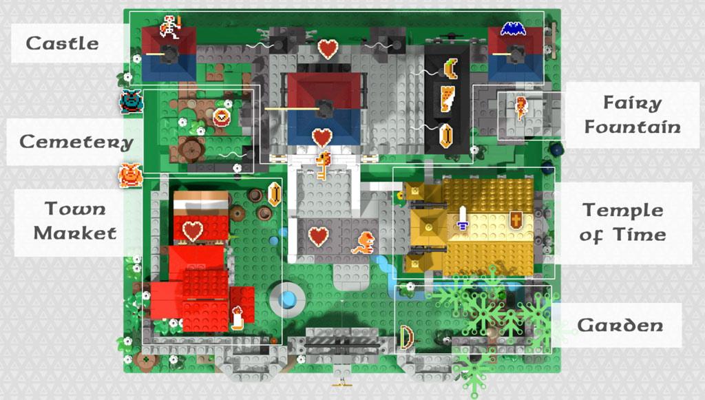 Map analog der einstigen 2D-Abenteuer