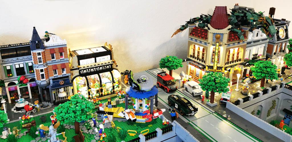 BenBricks LEGO Stadt mit Beleuchtung